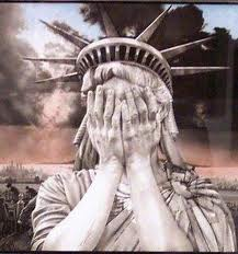 lady liberty weeps